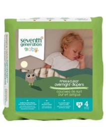 Seventh Generation Baby Overnight Diapers Stage 4 (4x24 CT)