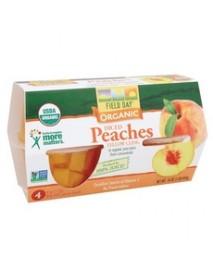 Field Day Organic Diced Peach Cups (6x4PK )