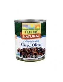 Field Day California Ripe Sliced Black Olives (12x3.8Oz)