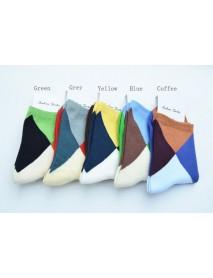A E SHON Mens Soft Socks Fashion Contrast Colorful Mens Socks