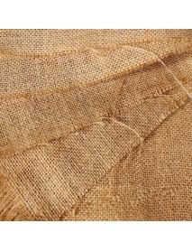 50X50cm Natural Jute Burlap Hessian Fabric DIY Craft Material