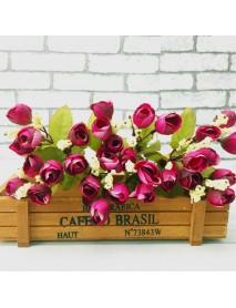 6 Colors 15 Heads Artificial Mini Rose Simulation Rose Flower Home Wedding Decor